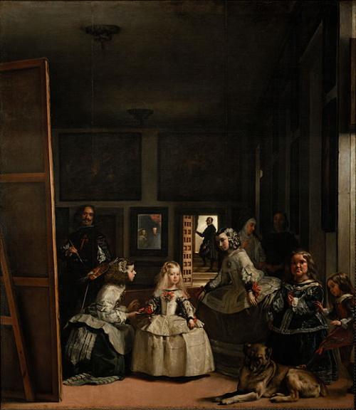 As Meninas é uma pintura de Diego Velázquez. #PraCegoVer