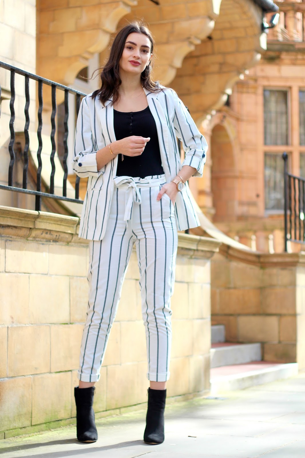 peexo striped suit primark glamour