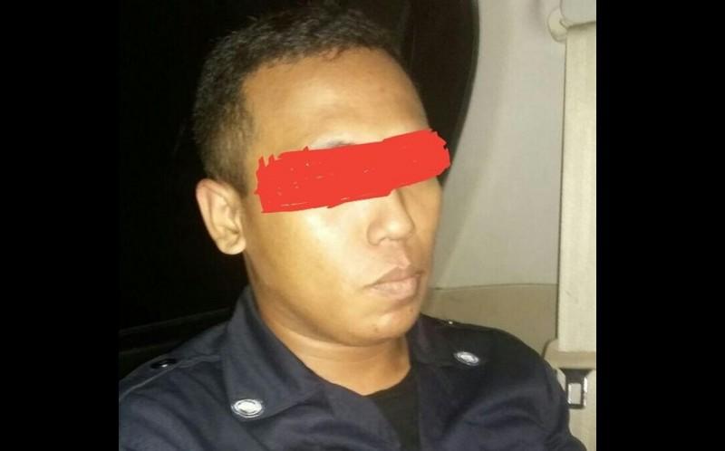 Tampang Wahyu alias Rizkum, pelaku begal di Samarinda