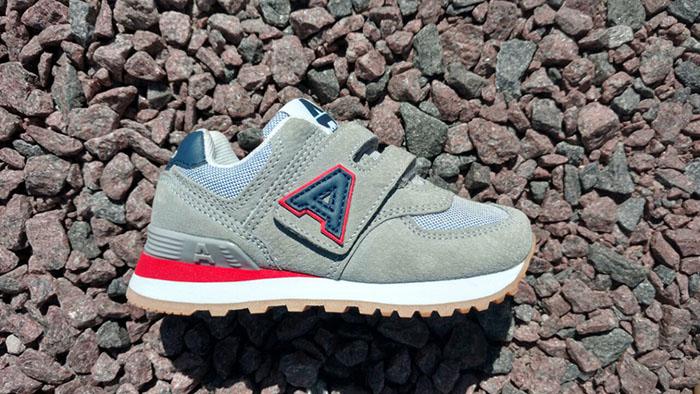 Moda en zapatillas para nenes linea running primavera verano 2018.