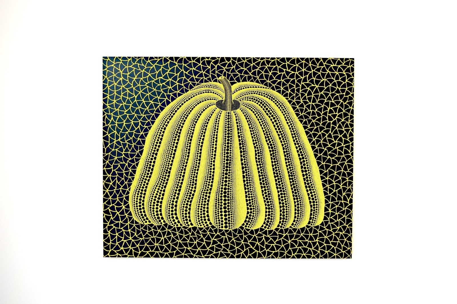 Pumpkin painting acryl on canvas by Yayoi Kusama