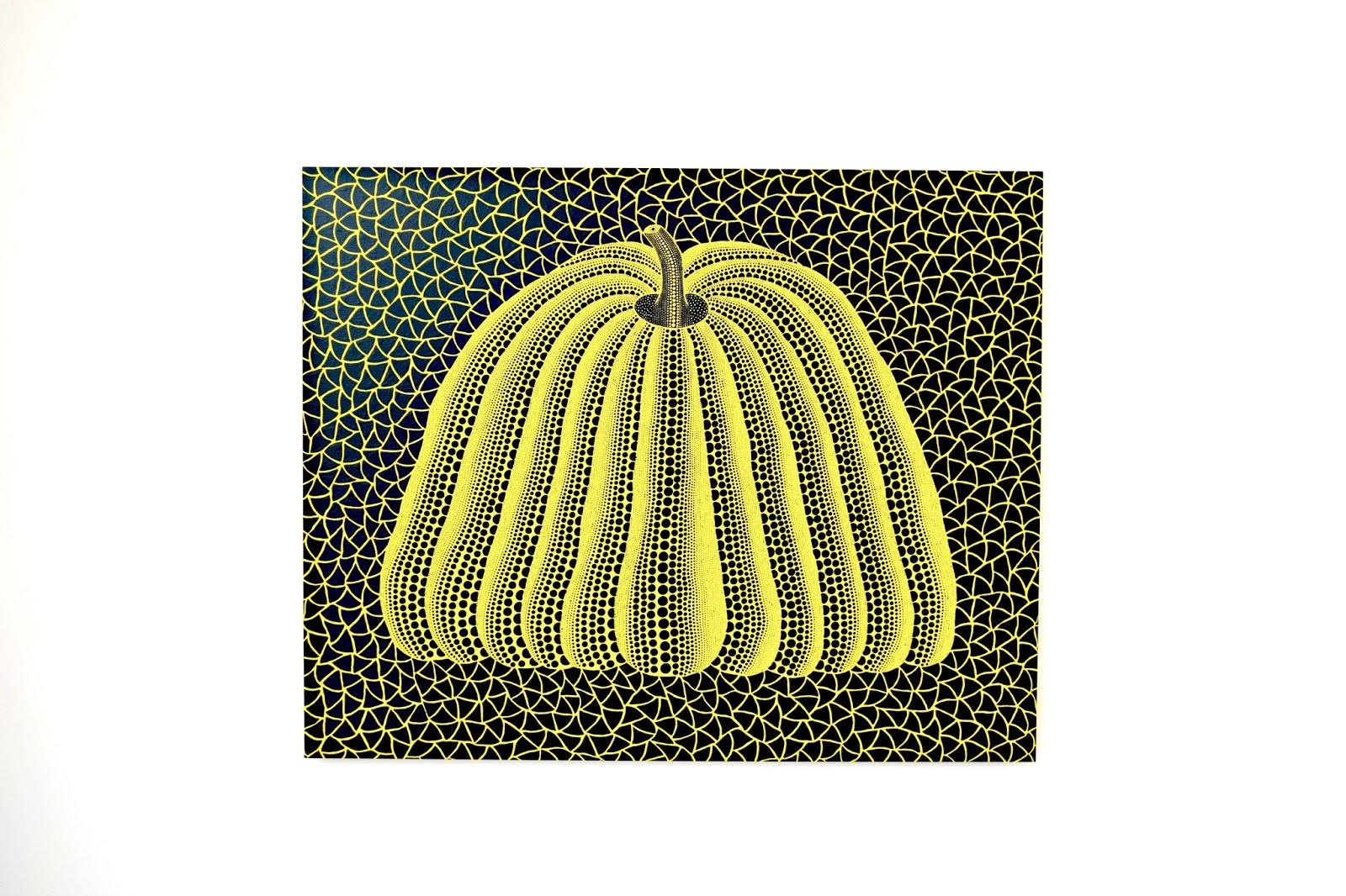 Pumpkin painting acryl on canvas by Yayoi Kusama