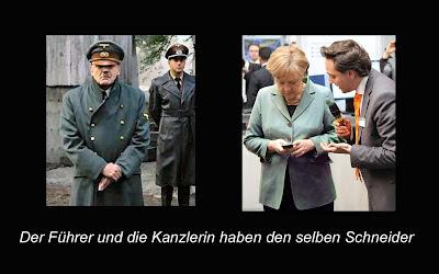 Hitler und Merkel hatten den selben Schneider