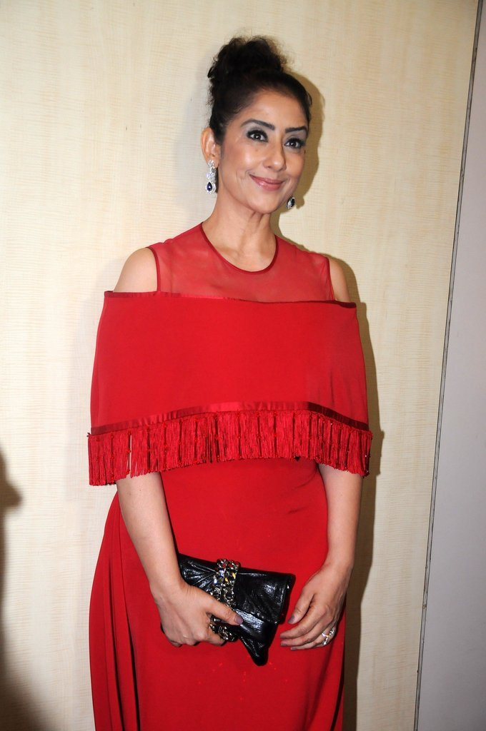 Mumbai Actress Manisha Koirala At Dadasaheb Phalke Awards In Red Dress