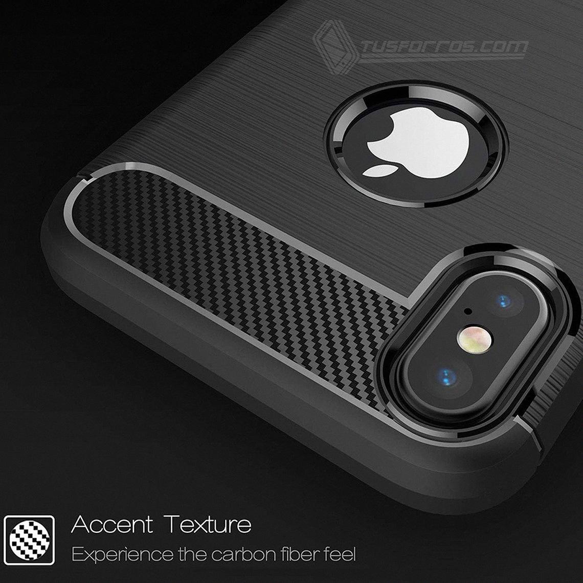 iPhone XS Max Forro Fibra de Carbono Anti-Shock