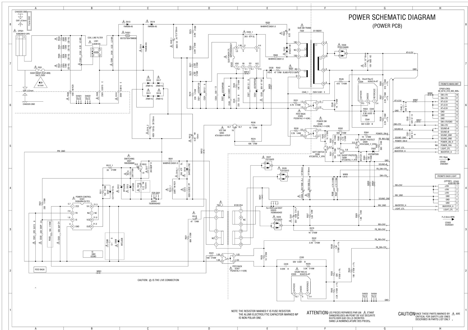 Schematic Diagrams Orion Tv29lb929 29 Inch Lcd Led Tv