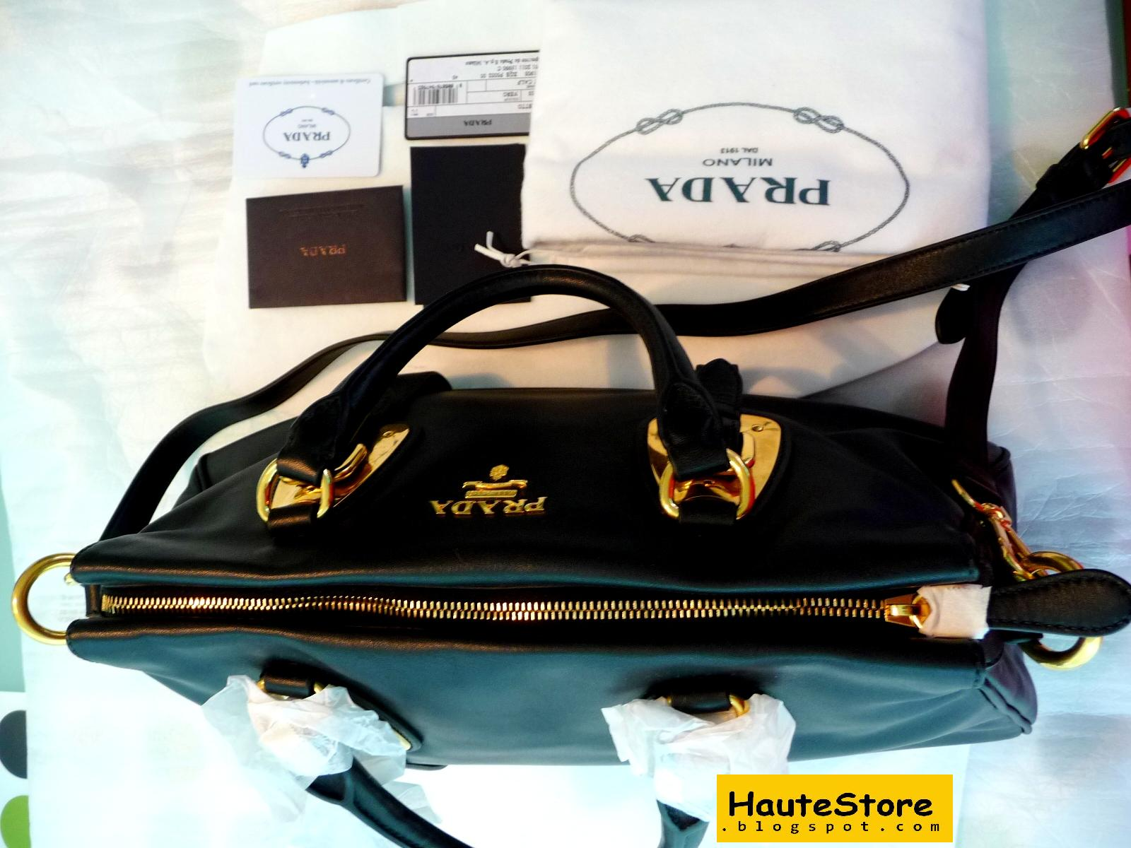 3922f06062ed1a HauteStore: Prada Bauletto BN1903 Full Soft Calf leather (Black/Nero)