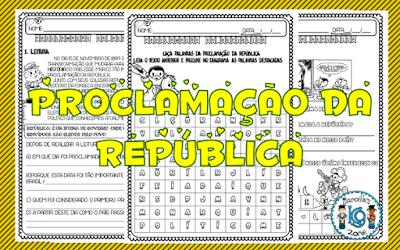 Atividades de História, Brasil, Datas comemorativas, Proclamação da República,