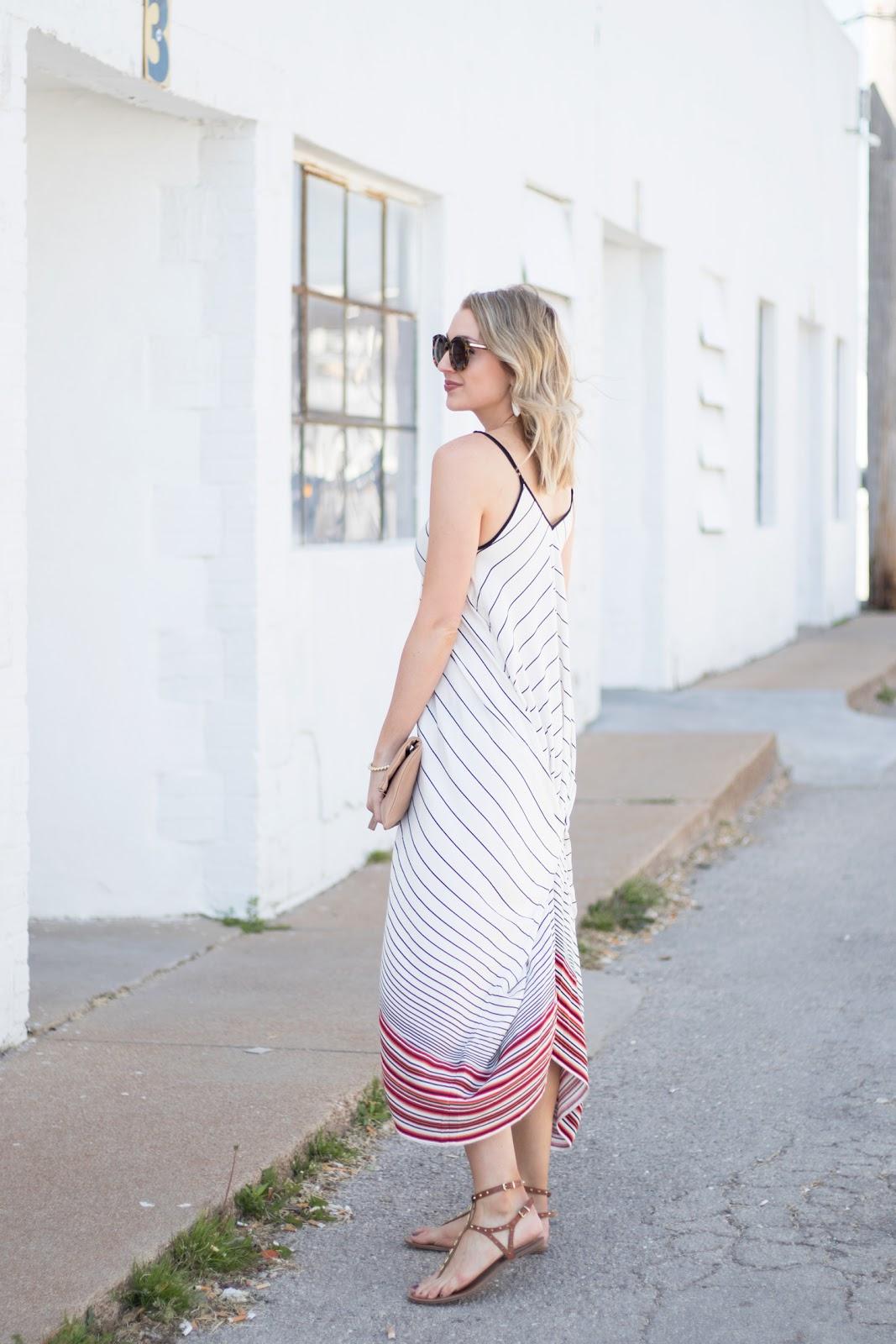 Draped maxi dress