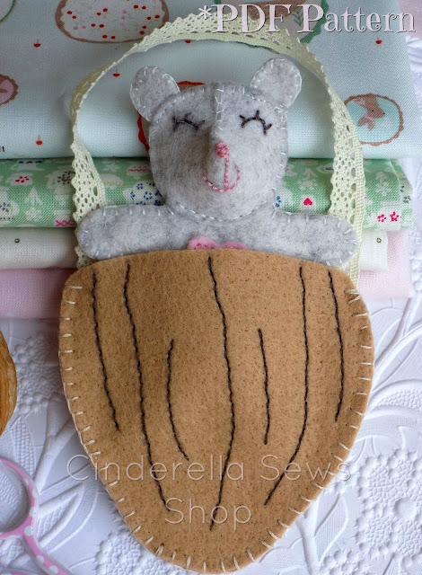 Miss Marie Felt Mouse PDF Sewing Pattern