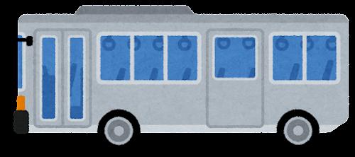 ツーステップバスのイラスト(ドアが閉じた状態)