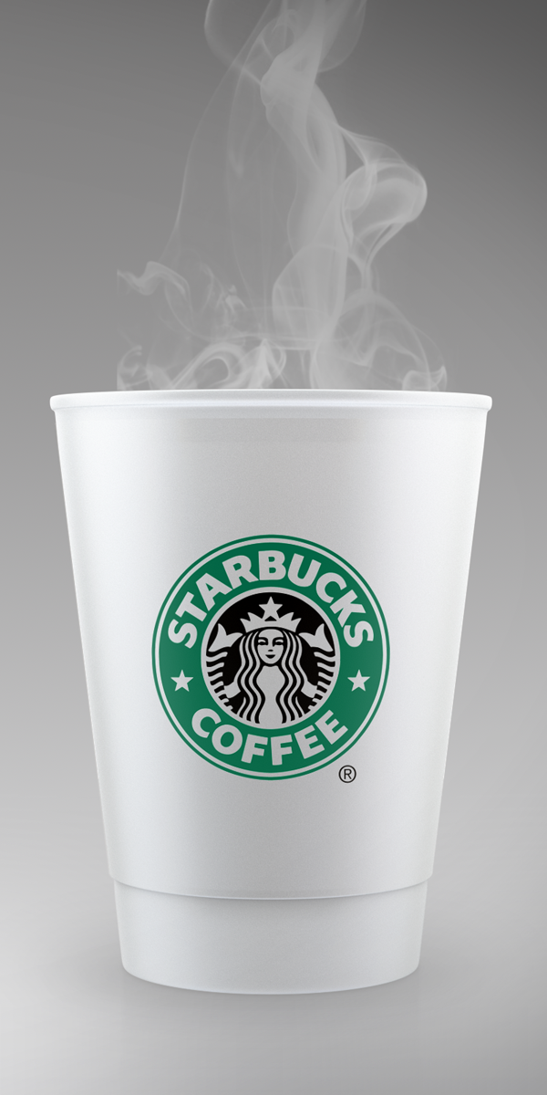 Starbucks Coffee Cup Mockup PSD