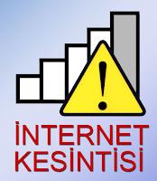İnternet kesintisini anlatan ve kablosuz bağlantı simgesi üzerindeki ünlem tabelası