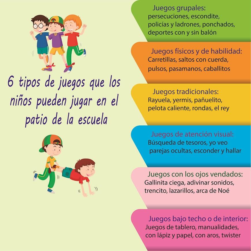 Coleccion De Juegos 6 Tipos De Juegos Para El Patio De La Escuela