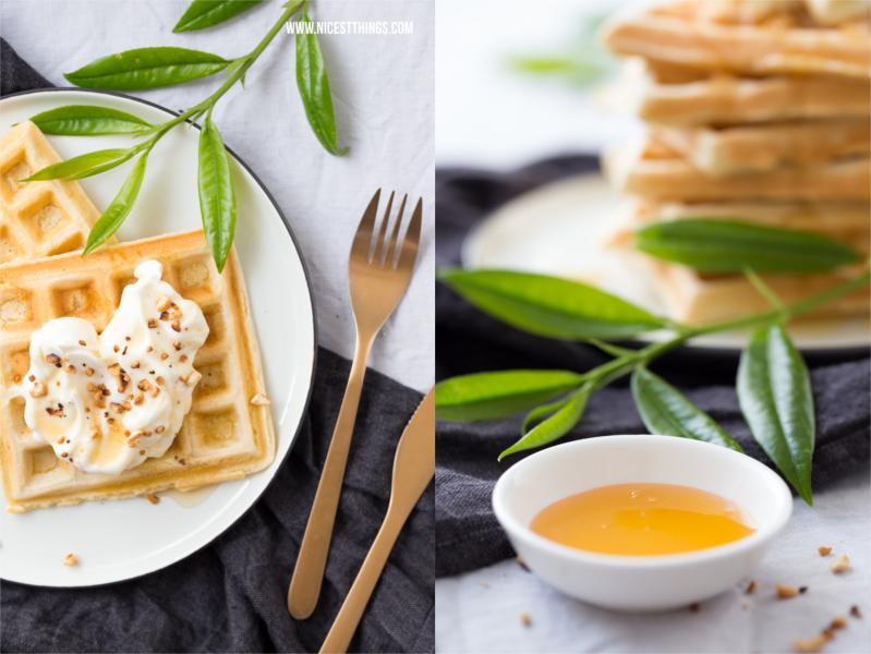 Gesunde Belgische Waffeln Rezept mit Honig