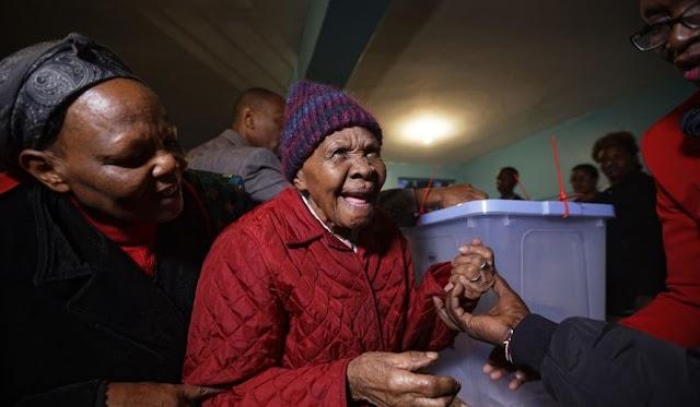 Kenya's keenest voter braves old age, rain to make her mark