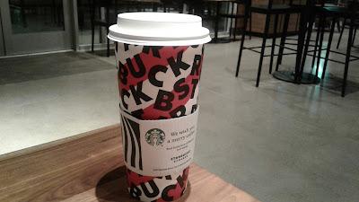 Starbucks Venti Matcha Green Tea Latte holiday cup