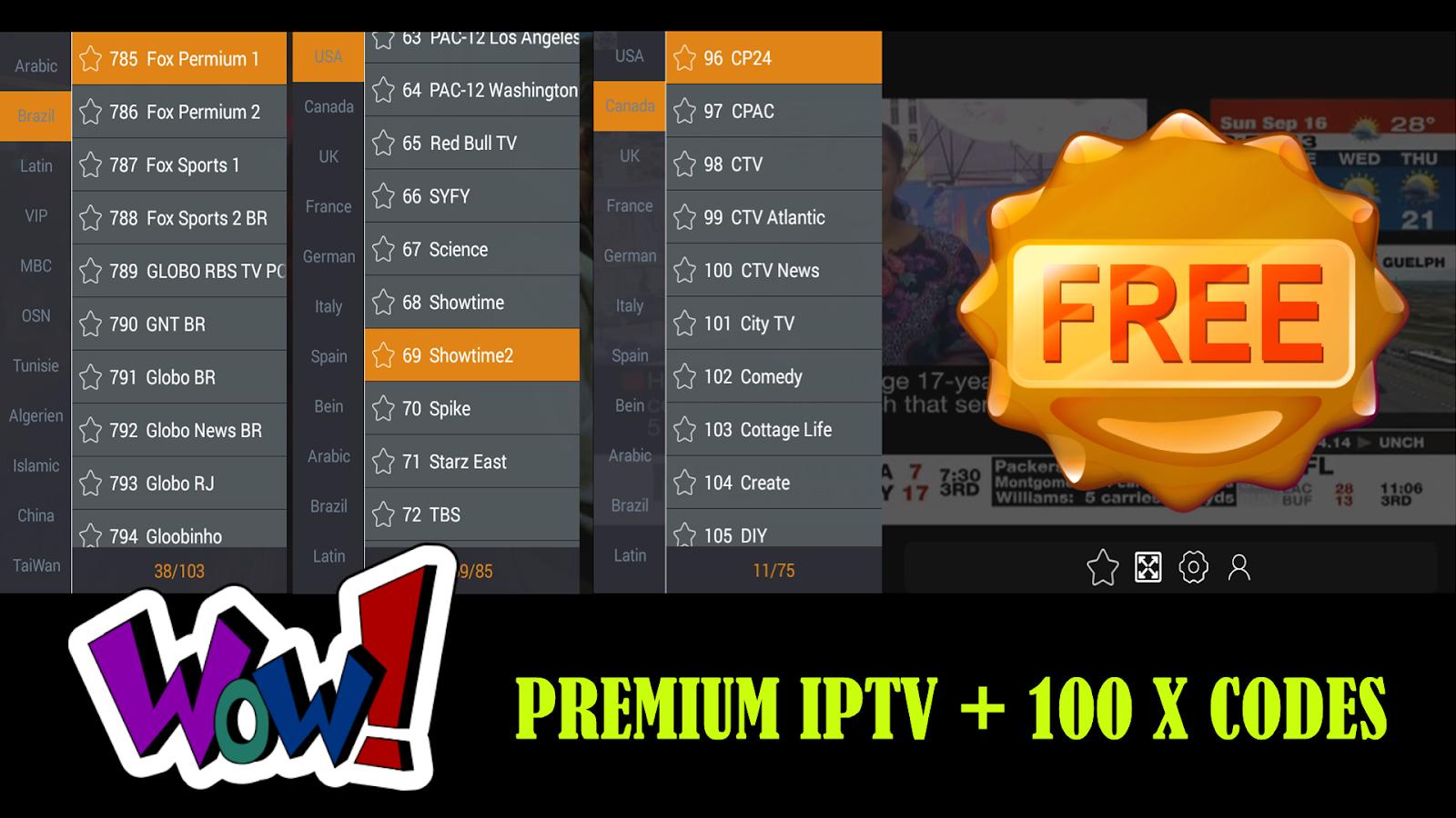 GOTV : PREMIUM IPTV TO WATCH BEST PREMIUM CHANNELS + 100 X USERS
