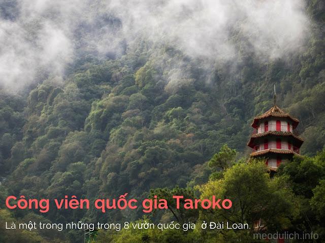 1 ngôi chùa trong công viên Quốc Gia Taroko Đài Loan