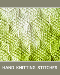 Learn Tumbling Moss Blocks Knit Purl Pattern with our easy to follow instructions at HandKnittingStitches.com