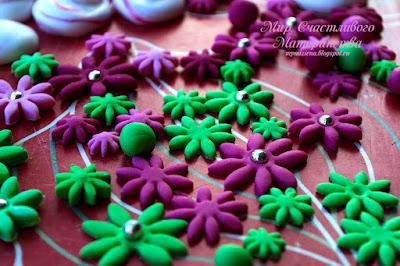 цветы из мастики для торта