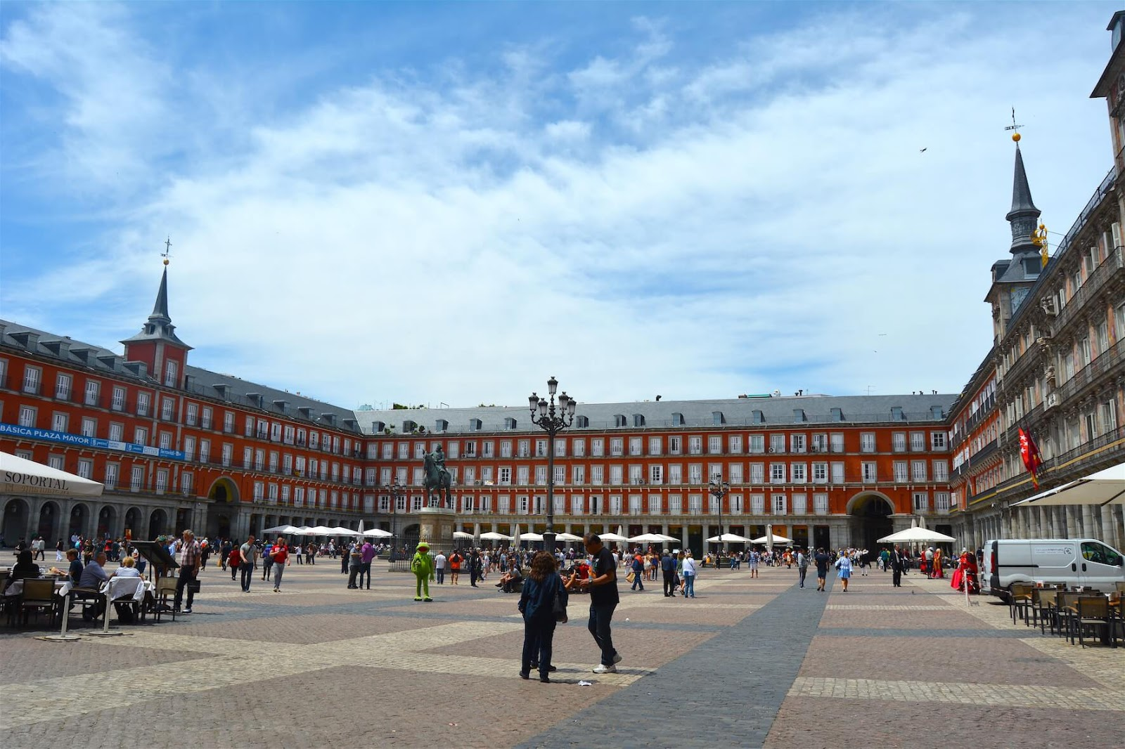 Robbed And Almost Penniless in Europe: Travel, Books and Food, Plaza Mayor, Madrid, Spain