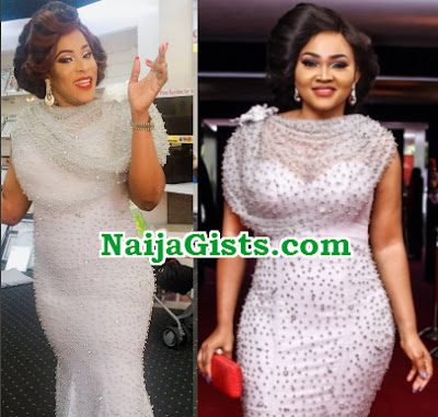 mercy aigbe fan amvca dress