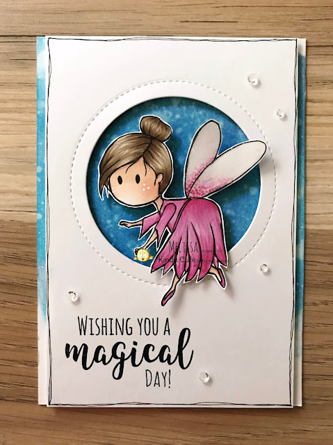Birthday card using fairy flying digital stamp from kindacutebypatricia