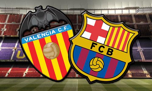مباراة برشلونة وفالنسيا --انتهت المباراة بفوز برشلونة  4-2