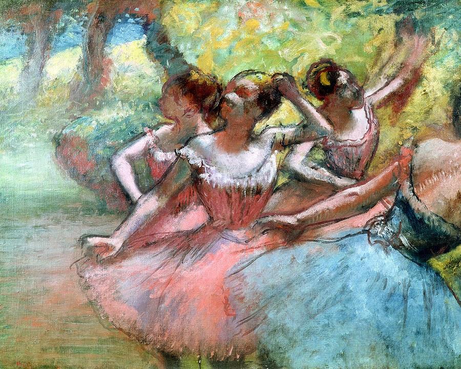 Quatro Bailarina - Edgar Degas e suas principais pinturas ~ O Pintor de Bailarinas