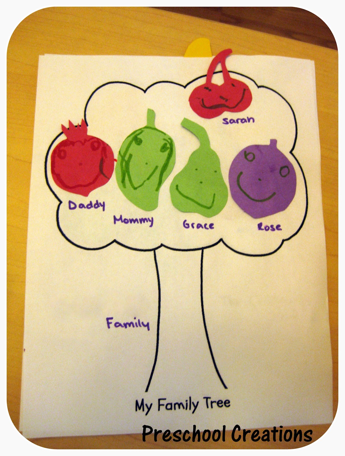 Preschool Creations Family Tree
