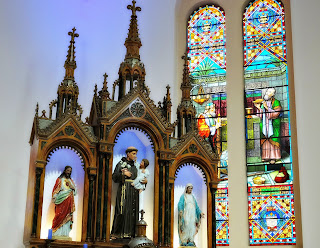 Vitrais no Altar da Igreja Santo Antônio, Porto Alegre