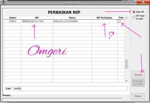 Cara Perbaikan NIP/NRP Pada Aplikasi GPP