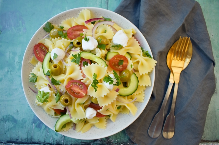 Summer Greek Pasta Salad