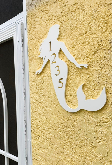 Exterior Mermaid Wall Decor Plaques House Numbers