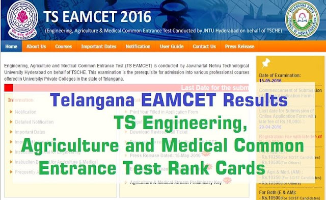 TS EAMCET,Results,Rank cards,TSEAMCET.IN