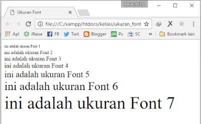 Cara Mengatur Size Huruf (Font) di HTML
