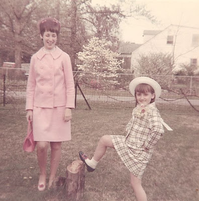 Wendy Slade Mathias and Mary Jollette Slade Pollock Easter 1969
