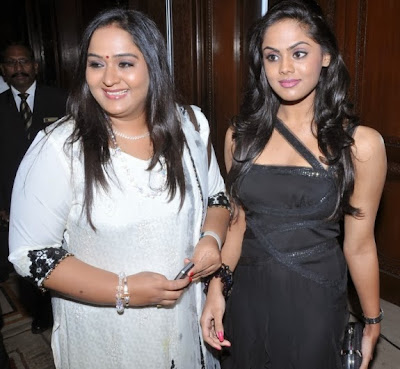 Thulasi Nair 's mother Radha and sister Karthika  Nair