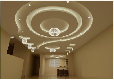 Modern false ceiling gypsum board ceiling design for living room hall 2019