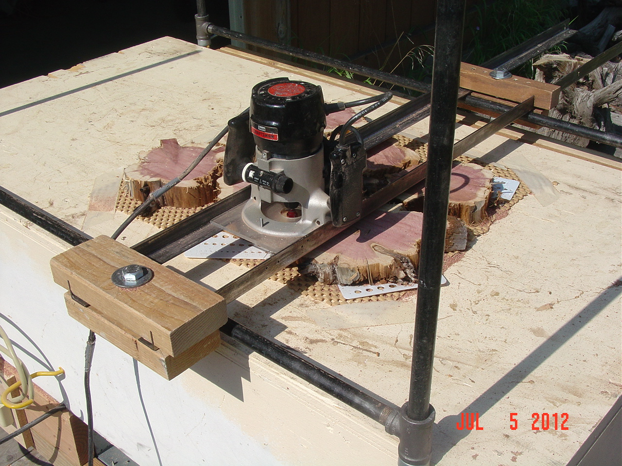 Router Sled For Planing