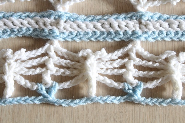 crochet, free pattern, fail, dancing dragonflies scarf