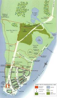 mapa do início de NYC