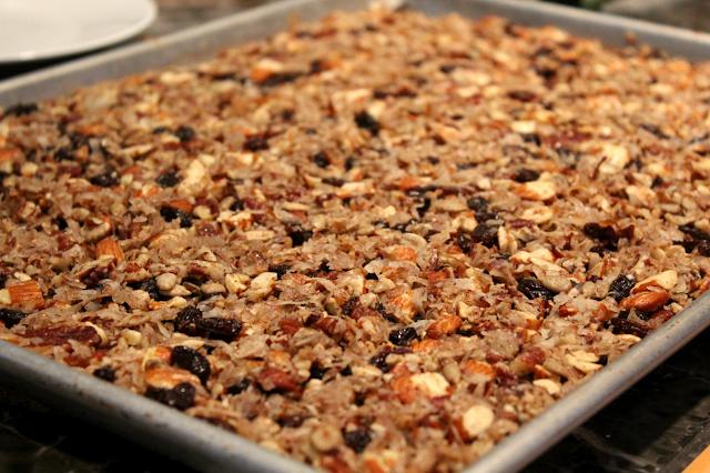 Paleo Granola Baking