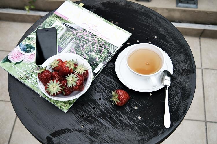 Tee, Erdbeeren und Lektüre { by it's me! }