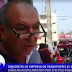 TRANSPORTISTAS DENUNCIARÁN A POLICÍA
