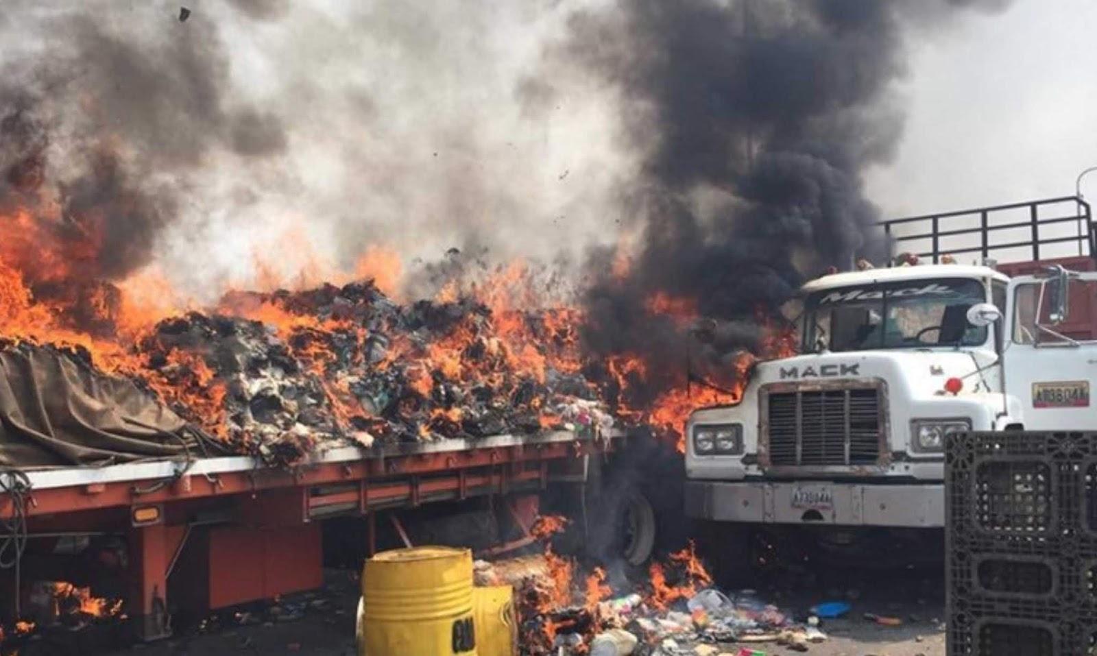 Pelaku pembakaran truk bantuan Venezuela ternyata pendukung oposisi