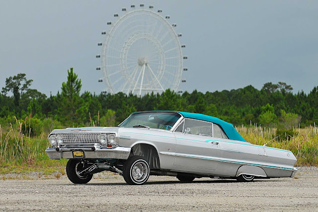 1963 Chevrolet Impala Convertible - #Chevrolet #Impala #Convertible #lowrider #classic_car