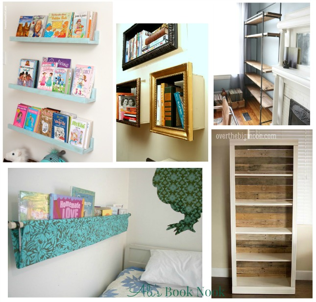 DIY bookshelves book storage solutions
