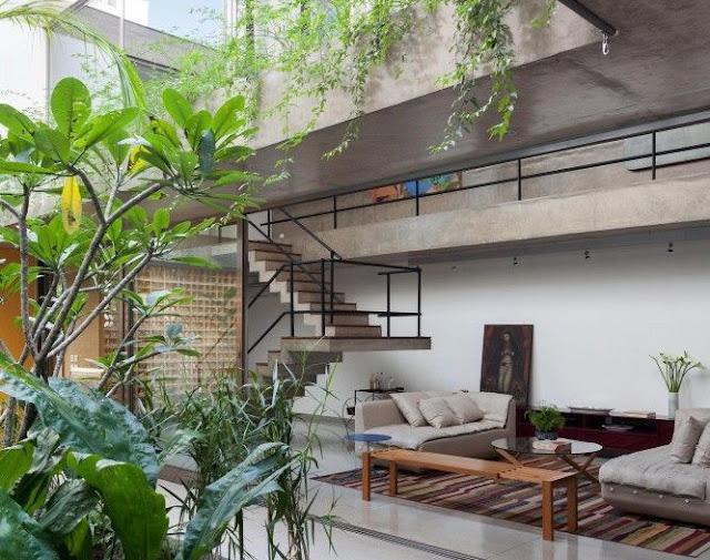 Rumah Minimalis Industrial Unfinish